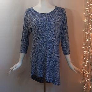 3/$18 Sunday by Dressbarn Tunic Top Blue Stretch